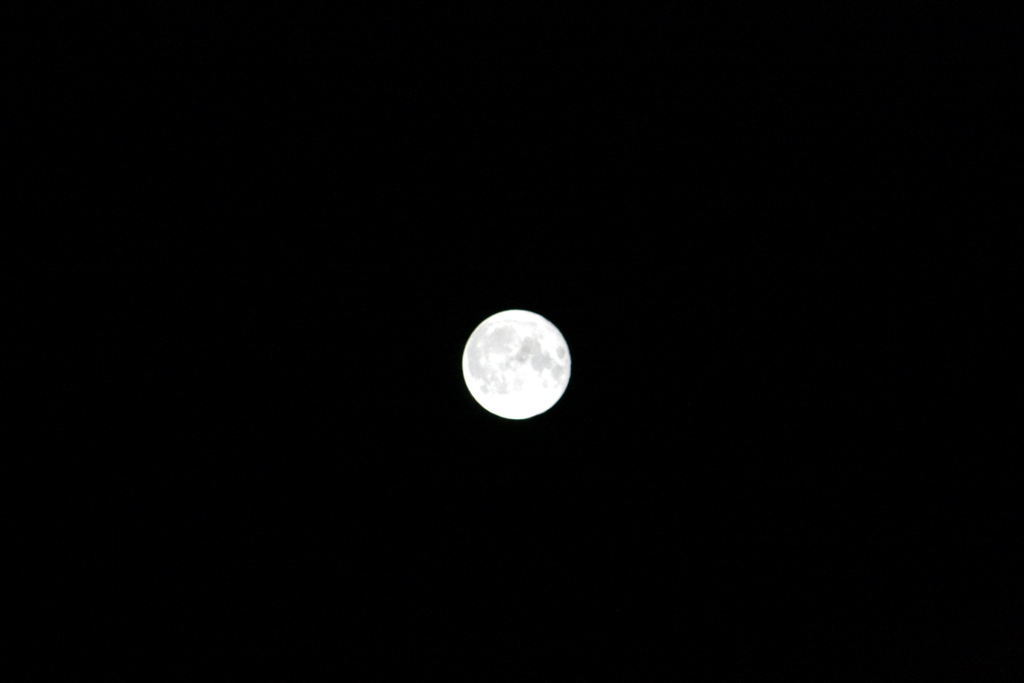 This is the clearest view of the moon. A lower ISO and relatively high speed shutter shows more details of the moons surface.