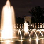 The fountain in the WWII memorial.